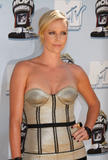 Charlize Theron shows cleavage in silver top at 2008 MTV Movie Awards