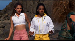Amy Jo Johnson as Kimberly Hart and Karan Ashley as Aisha Campbell
