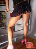 Andrea  Rincon (Selena Spice) Striptease Primera Prenda Foto 16